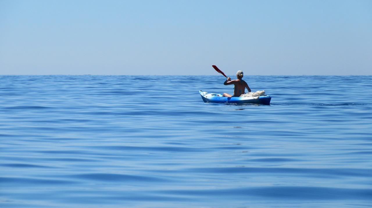 kayak, sea, côte d ' azur
